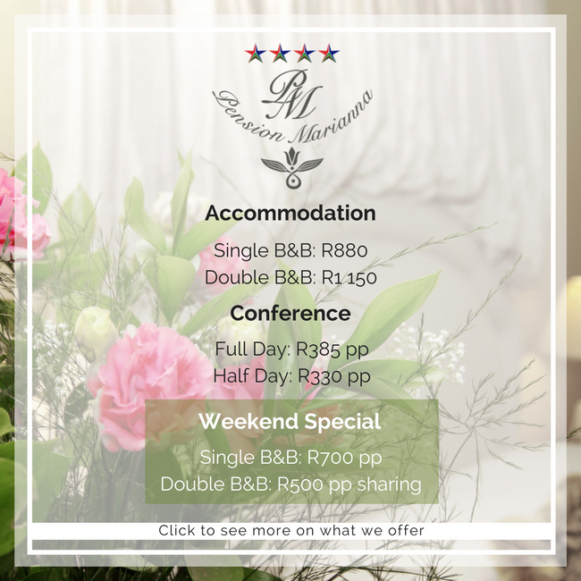 Weekend Specials @ Pension Marianna Guest House Bellville